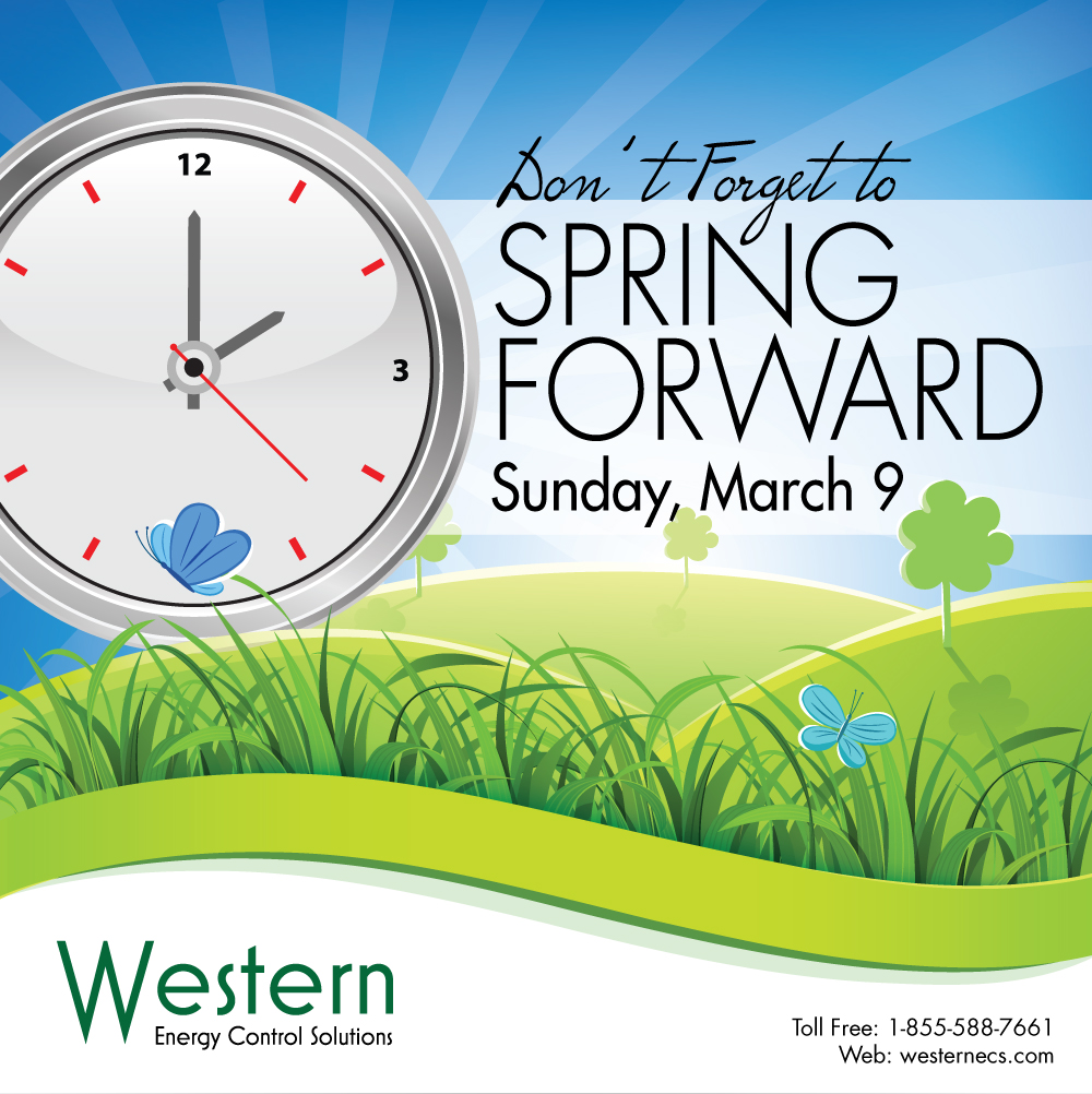 Spring forward it is daylight savings time